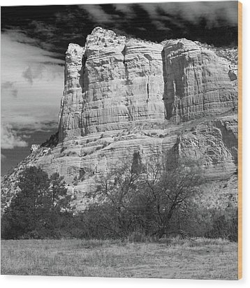 Wood Print featuring the photograph Courthouse Rock by Harold Rau
