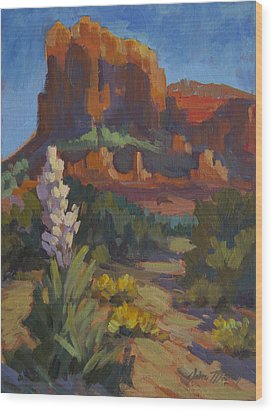 Courthouse Rock Sedona Wood Print by Diane McClary