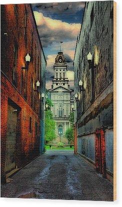 Courthouse Wood Print by Tom Mc Nemar