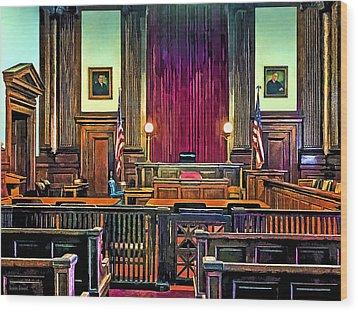 Courtroom Wood Print by Susan Savad