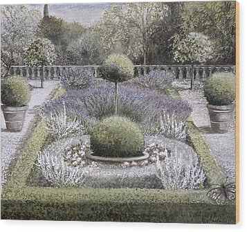 Courtyard Garden Wood Print by Ariel Luke