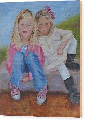 Cousins Wood Print by Carol Berning