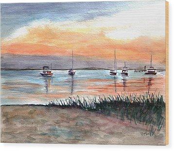 Cove Sunrise Wood Print