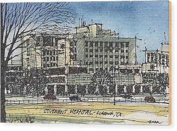 Covenant Hospital Wood Print