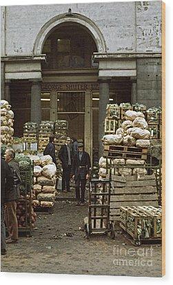 Covent Garden Market London 1973 Wood Print by David Davies