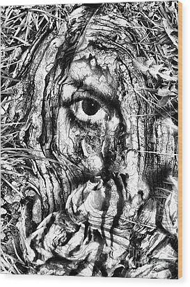 Cover My Face Wood Print by Heather King