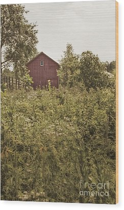 Covered Barn Wood Print by Margie Hurwich