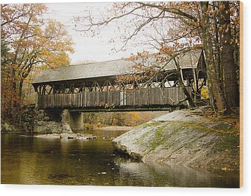 Covered Bridge  Wood Print by Allan Millora