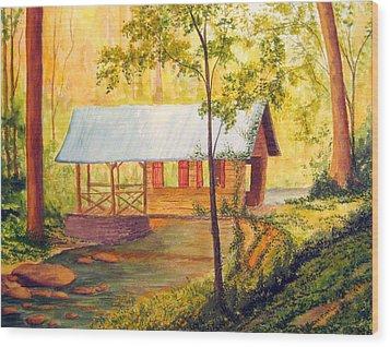 Covered Bridge Boone Nc Wood Print by Julia Rietz