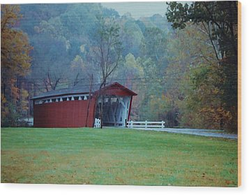 Wood Print featuring the photograph Covered Bridge by Diane Alexander