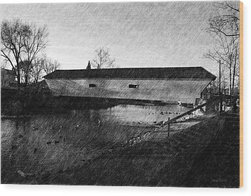 Covered Bridge Elizabethton Tennessee C. 1882 Wood Print by Denise Beverly