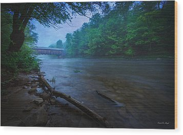 Covered Bridge  Wood Print by Everet Regal