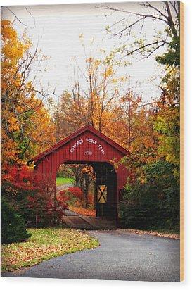 Covered Bridge Farm Wood Print