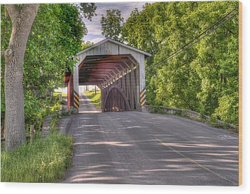 Wood Print featuring the photograph Covered Bridge by Jim Thompson