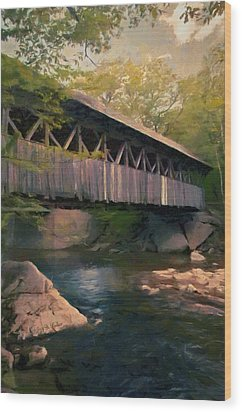 Covered Bridge Wood Print by Jeff Kolker