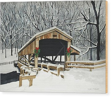 Covered Bridge - Mill Creek Park Wood Print