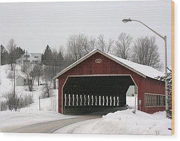 Wood Print featuring the photograph Covered Bridge Muskoka by Paula Brown