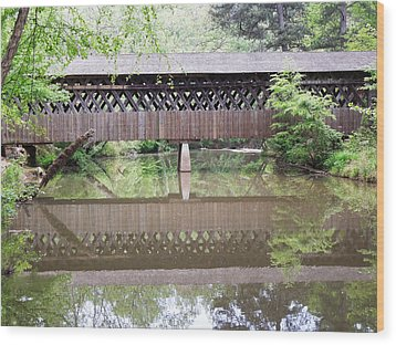 Covered Bridge Wood Print by Pete Trenholm