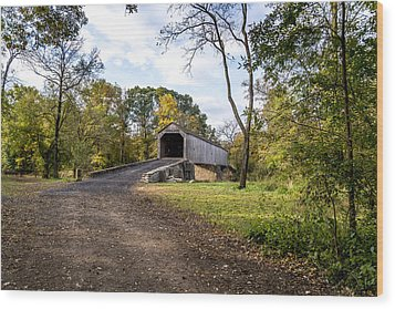 Covered Bridge Wood Print by Phil Abrams