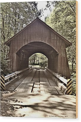 Covered Bridge Yachats Oregon Wood Print by Tobeimean Peter