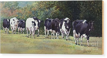 Cow Trail Wood Print by Anthony Forster