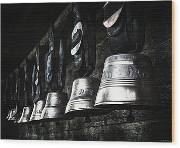Cowbells Wood Print by Ryan Wyckoff