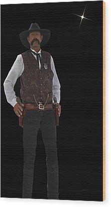 Cowboy Bill Wood Print