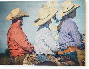 Wood Print featuring the photograph Cowboy Colors by Steven Bateson