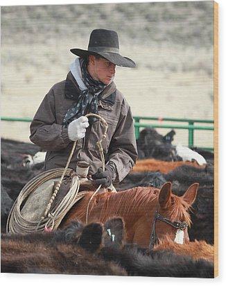 Cowboy Signature 9 Wood Print