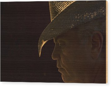 Wood Print featuring the photograph Cowboy-the American Icon That Disappeared Into History----------- by Renee Anderson