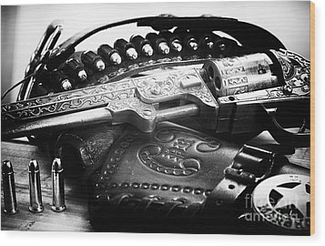 Cowboy Way Wood Print by John Rizzuto