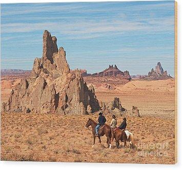 Cowboys Wood Print