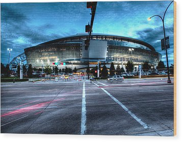 Cowboys Stadium Pregame Wood Print