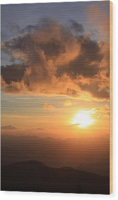 Cowee Mountains Sunset - Blue Ridge Parkway Wood Print by Mountains to the Sea Photo