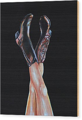 Cowgirl Legs Wood Print by Jennifer Godshalk