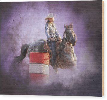 Cowgirls Dream Wood Print by Ron  McGinnis