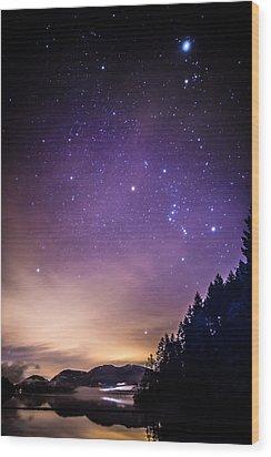 Cowichan Lake Wood Print by Deryk Baumgaertner