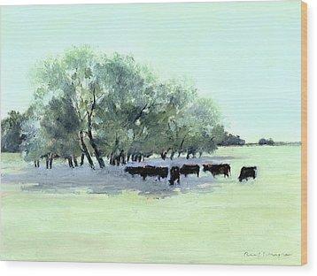 Cows 7 Wood Print