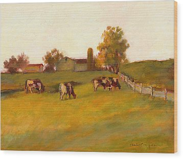 Cows2 Wood Print by J Reifsnyder