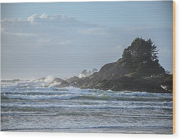 Cox Bay Afternoon Waves Wood Print