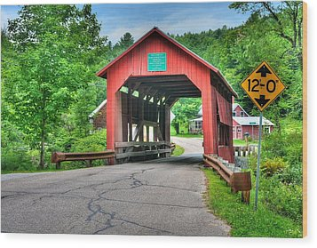 Cox Brook Bridge Wood Print