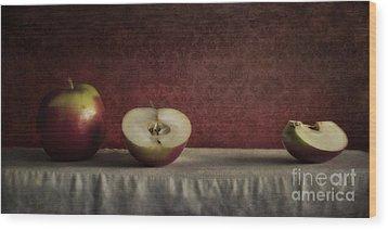 Cox Orange Apples Wood Print by Priska Wettstein