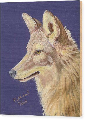 Coyote 2 Wood Print by Ruth Seal