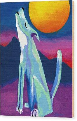 Coyote Azul Wood Print