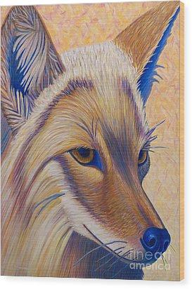 Coyote Summer Wood Print