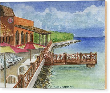 Cozumel Mexico Little Pier Wood Print