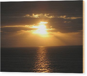 Cozumel Mexico Sunset Wood Print by Jean Marie Maggi