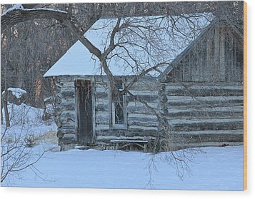 Cozy Hideaway Wood Print by Penny Meyers