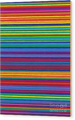 Cp038 Tapestry Stripes Wood Print by David K Small
