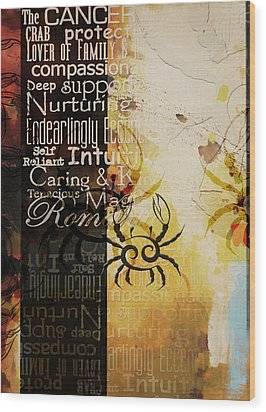Crab Of The Star Cancer Wood Print by Corporate Art Task Force